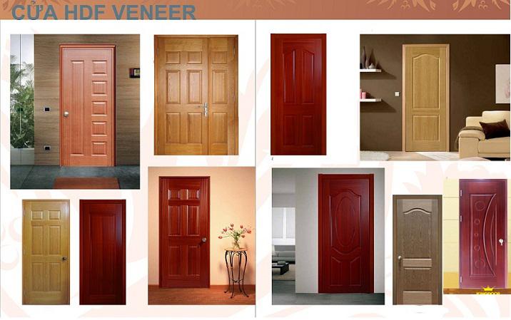 cửa gỗ công nghiệp giá rẻ HDF Veneer